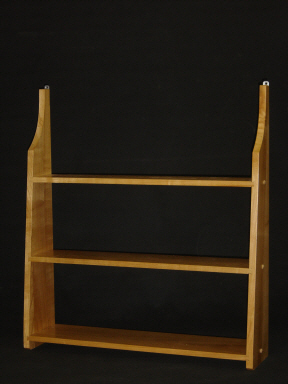 Shaker hanging shelf, hand made from wild Cherry