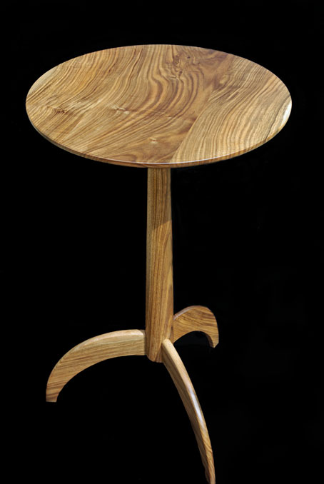 Shaker pedestal table in French Walnut