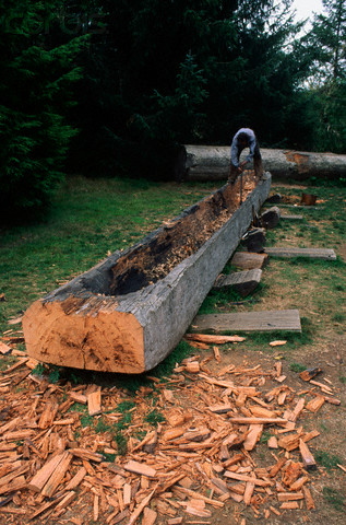 Carving a Dugout Canoe